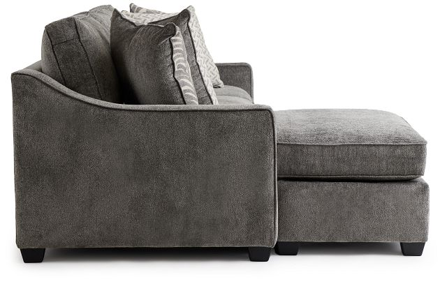 Bianca Gray Fabric Chaise Sectional (2)