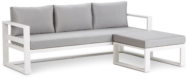 Lisbon Gray Aluminum Chaise Sectional (2)