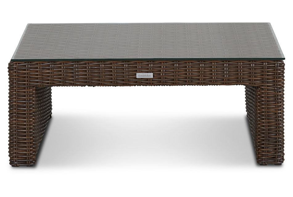 Southport Dark Brown Square Coffee Table