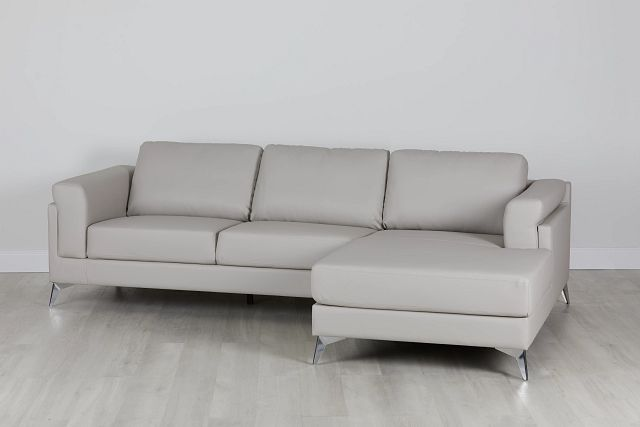 Gianna Gray Micro Right Chaise Sectional (0)