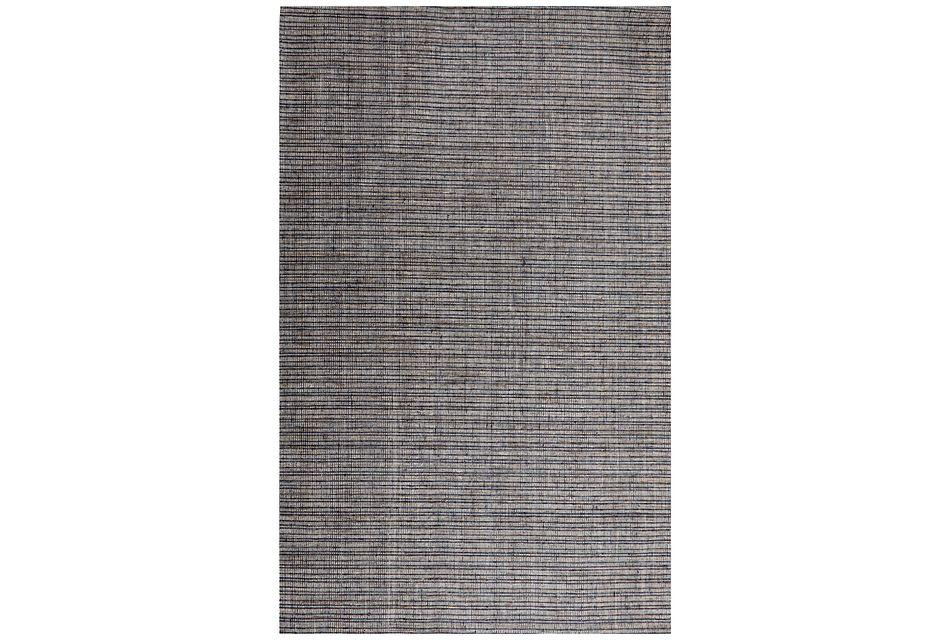 Heston Dark Blue 5x8 Area Rug