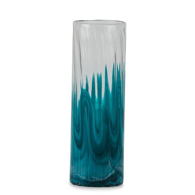 Lia Teal Tall Vase (1)