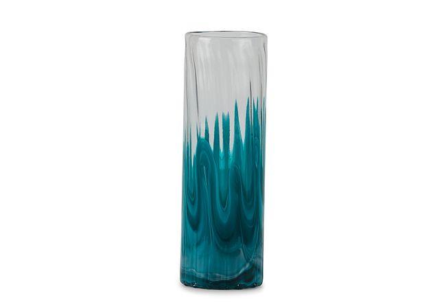 Lia Teal Tall Vase