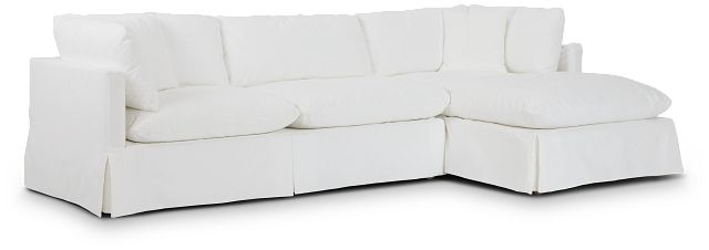 Raegan White Fabric Right Chaise Sectional (0)
