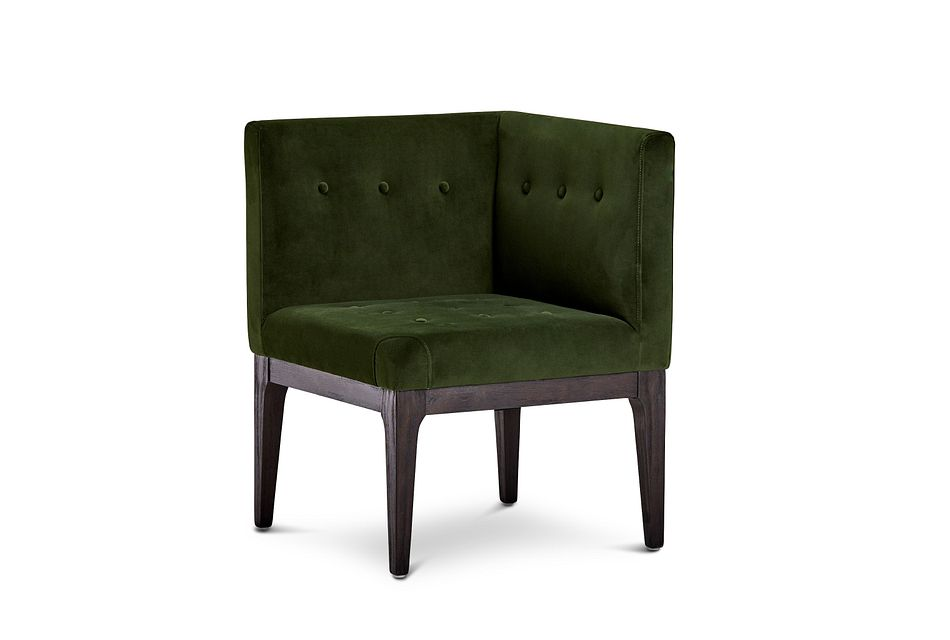 Reilly Dark Green Velvet Accent Chair