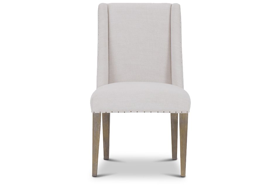 Berlin White Upholstered Arm Chair,  (3)