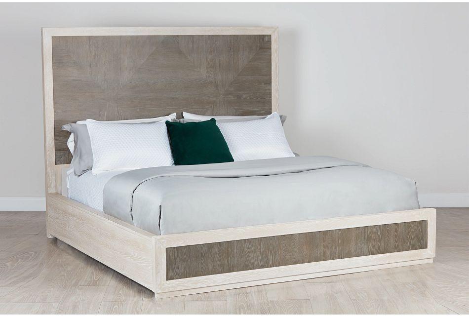 Berlin Two-tone Wood Platform Bed