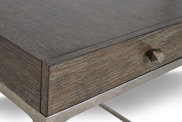 Linea Dark Tone Metal End Table