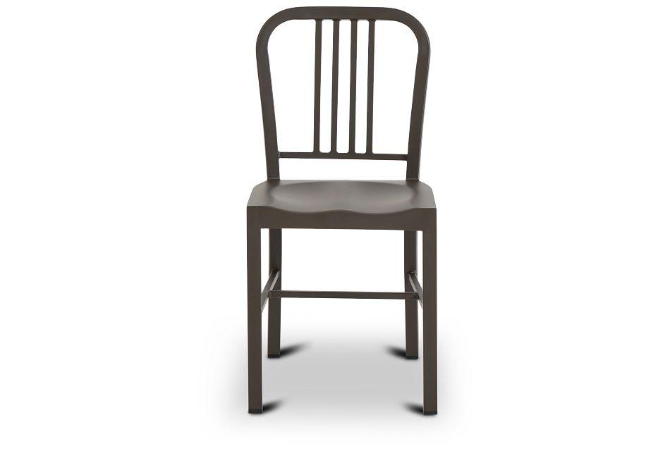 Glen Silver Metal Side Chair,  (3)