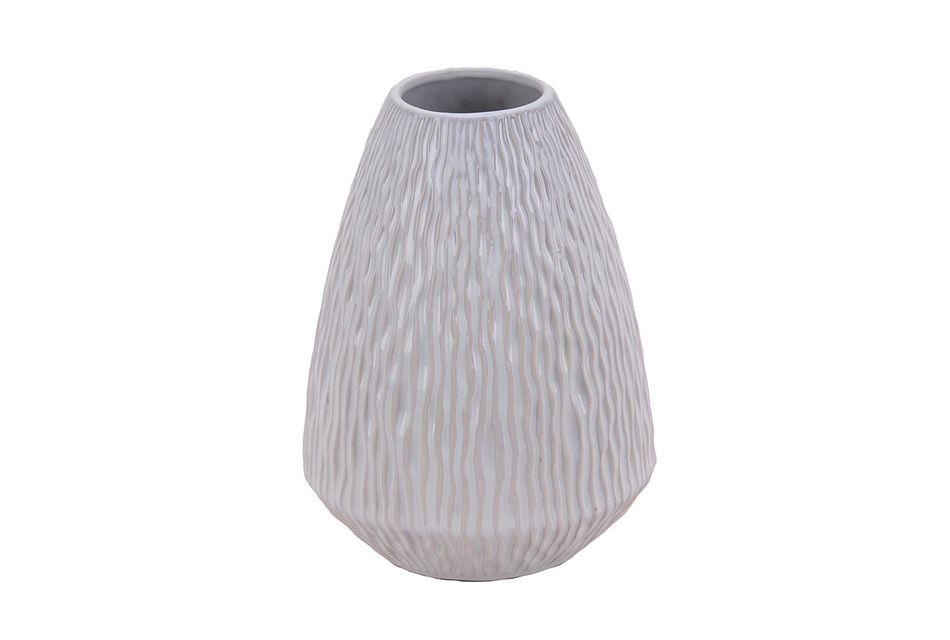 Waves White Vase