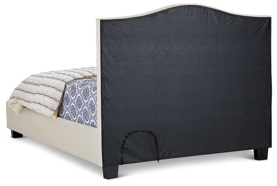 Dawson Beige Uph Platform Bed