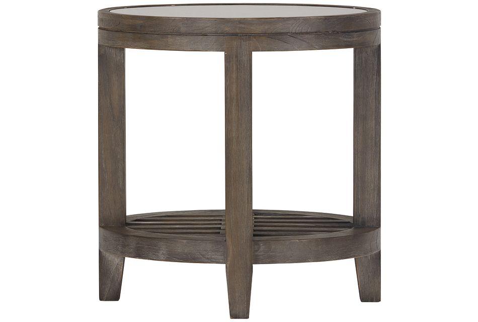 Bravo Dark Tone Oval End Table