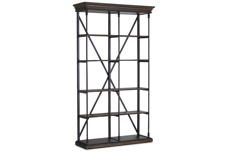 Jaxton Brown Large Bookcase