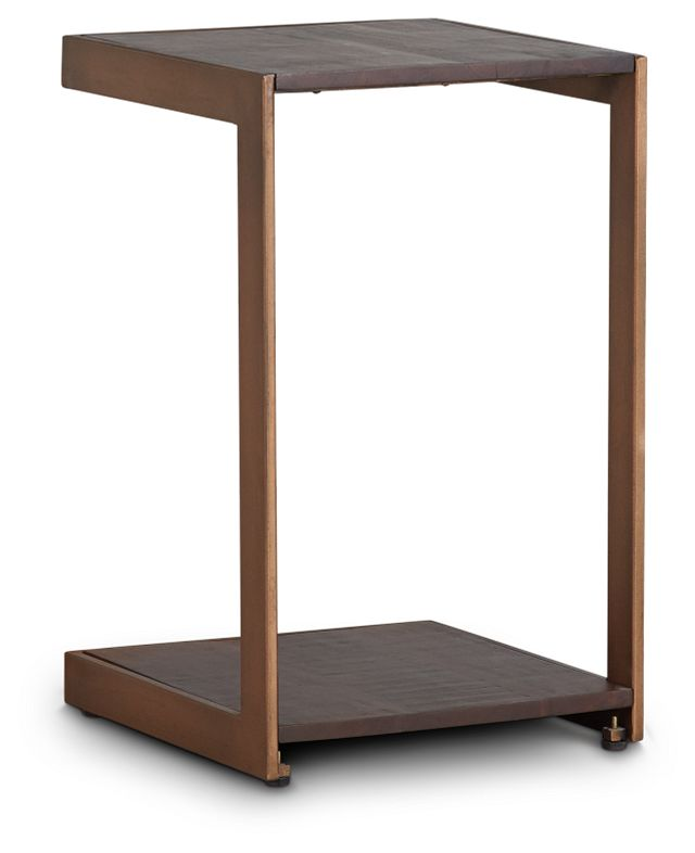Amber Bronze Wood Chairside Table (3)