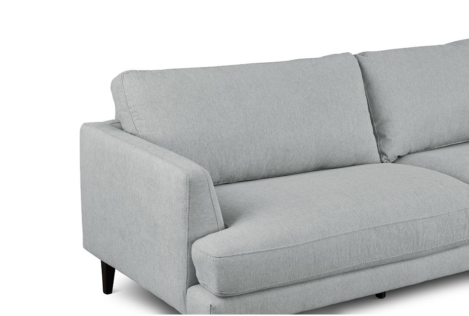 Fremont Light Blue Fabric Right Chaise Sectional