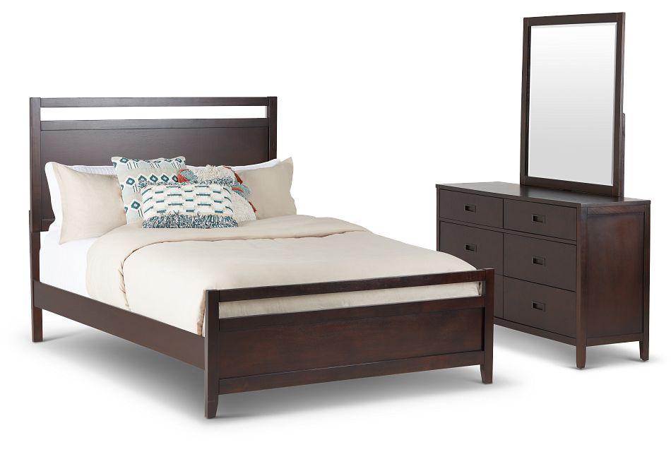 Chatham Dark Tone Wood Panel Bedroom