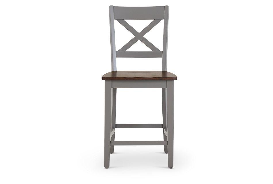 "Sumter Gray 24"" Wood Barstool,  (3)"