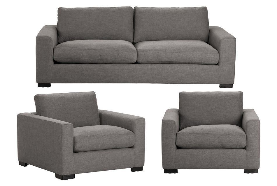 Bohan Dark Gray Fabric Small Living Room