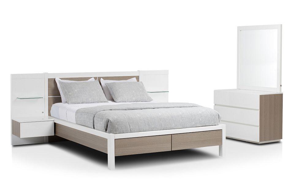 Pesaro Two-tone Spread Storage Bedroom