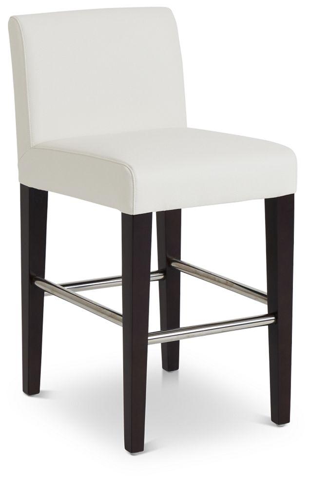 "Cane Whitemicro 24"" Upholstered Barstool (1)"
