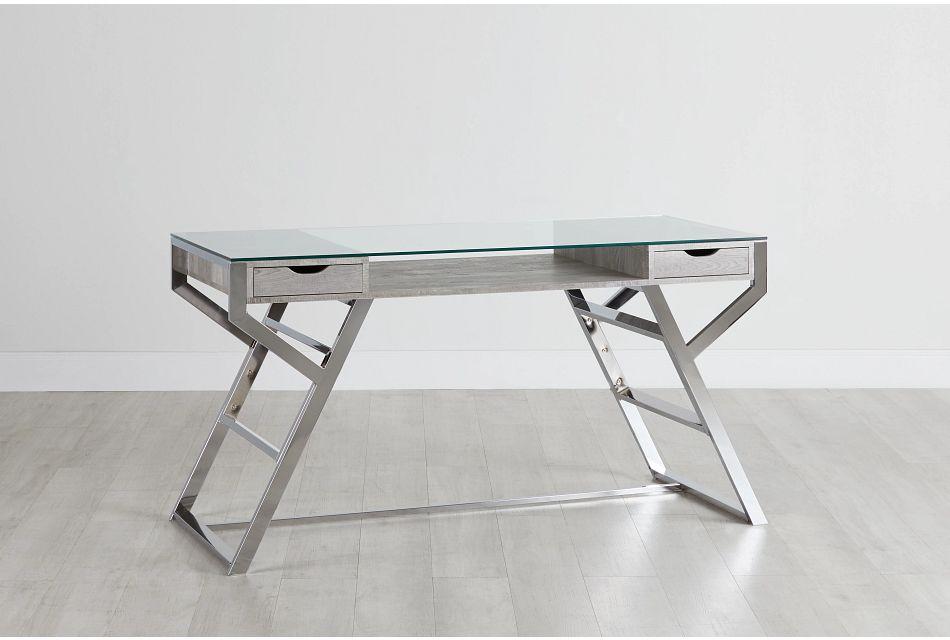 Lovett Light Gray Writing Desk,  (0)