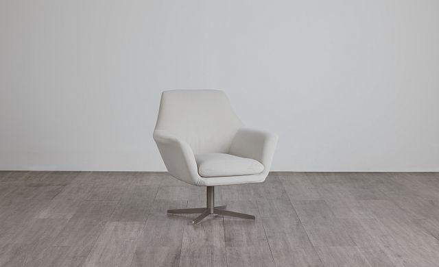 Xander Pewter Velvet Swivel Accent Chair (0)