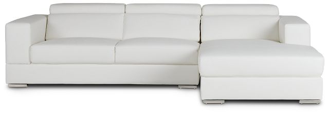 Maxwell White Micro Right Chaise Sectional (3)
