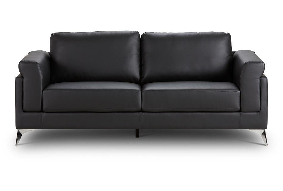 Gianna Black Micro Sofa, %%bed_Size%% (1)