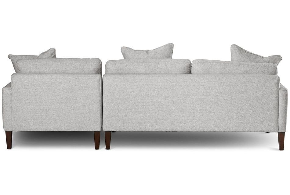 Morgan Light Gray Fabric Small Right Chaise Sectional W/ Wood Legs
