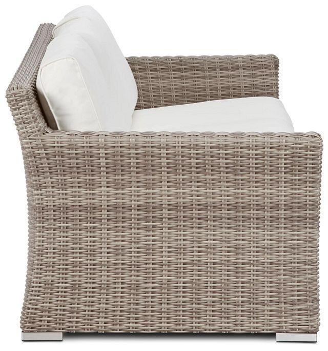 Raleigh White Woven Sofa (2)