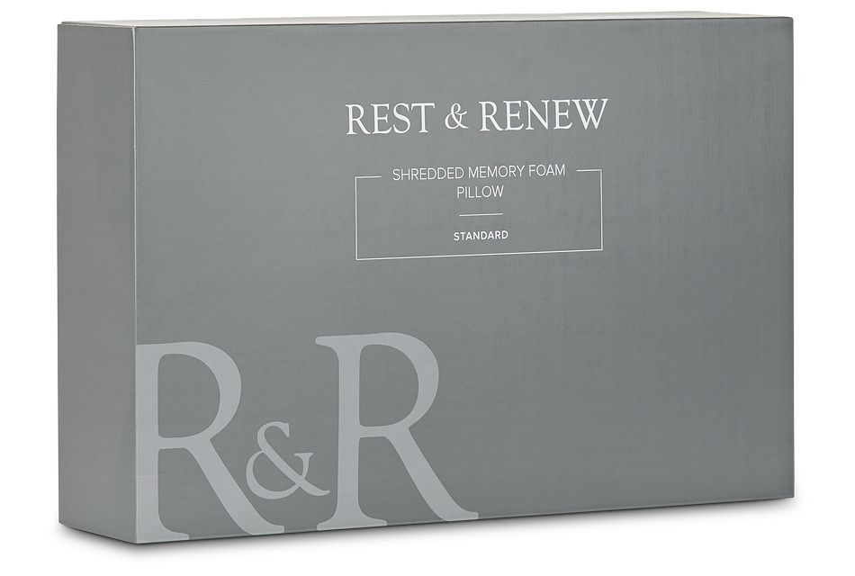 Rest & Renew Shredded Memory Foam  Firm Back Sleeper Pillow, Queen (3)