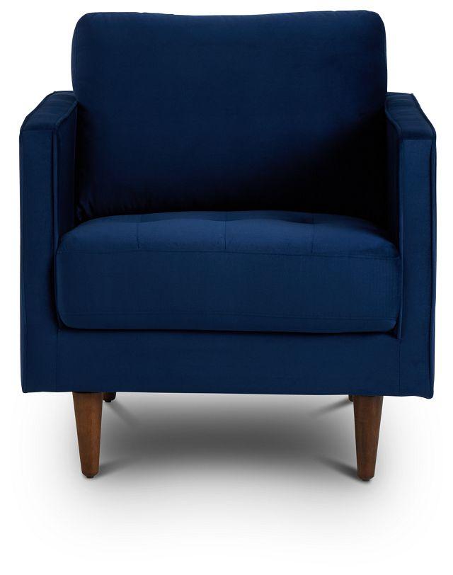 Luna Dark Blue Velvet Chair (3)