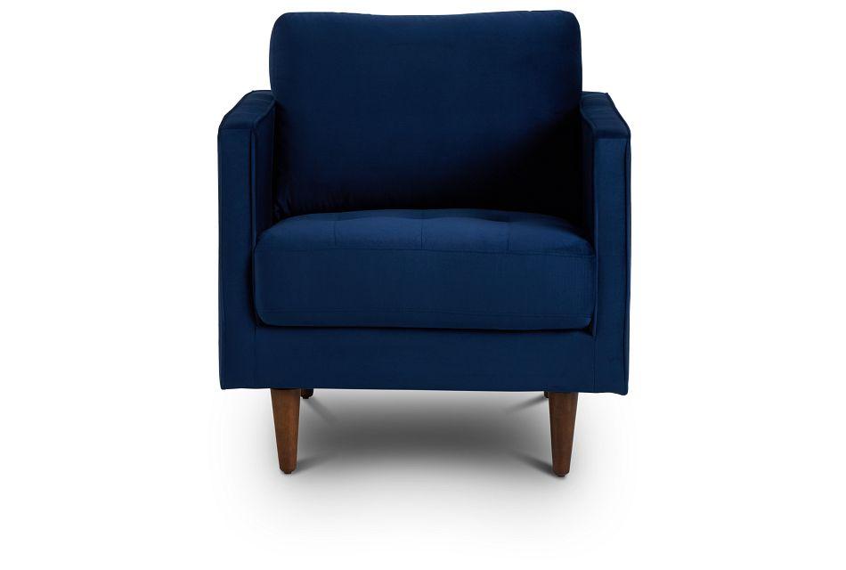 Luna Dark Blue Velvet Chair,  (3)