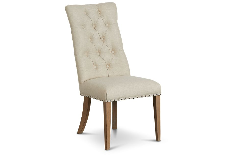 Haddie Light Tone Upholstered Side Chair,  (1)