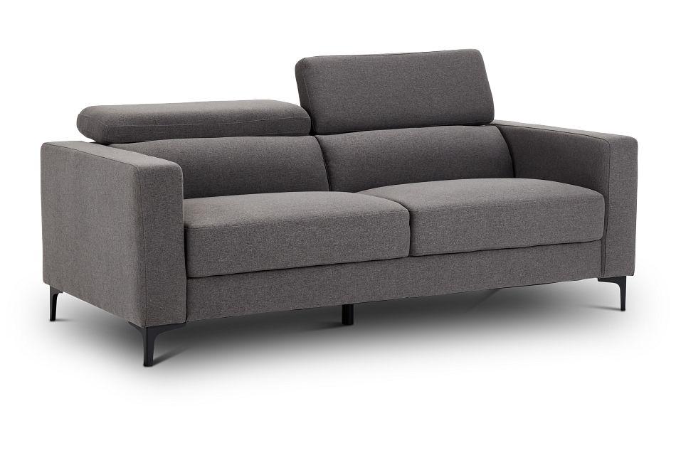 Trenton Dark Gray Fabric Sofa