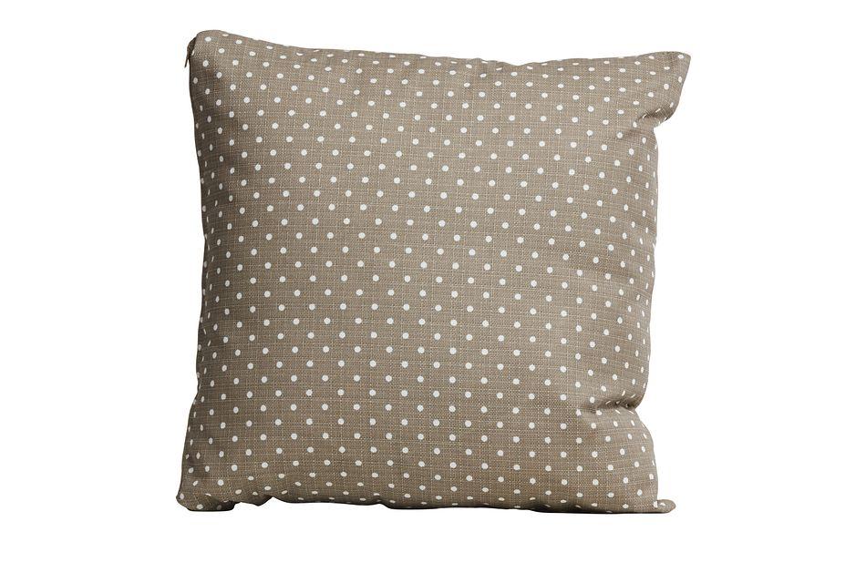 """Dots Gray 18"""" Indoor/outdoor Accent Pillow"""