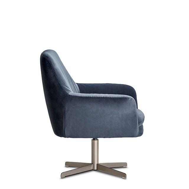 Xander Dark Gray Velvet Swivel Accent Chair (1)