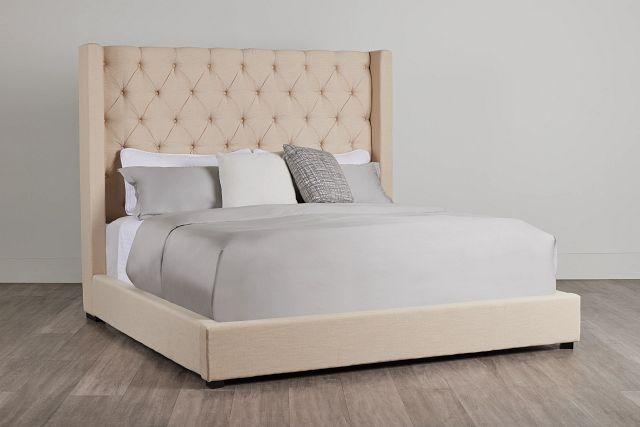 Lacey Beige Uph Platform Bed (0)