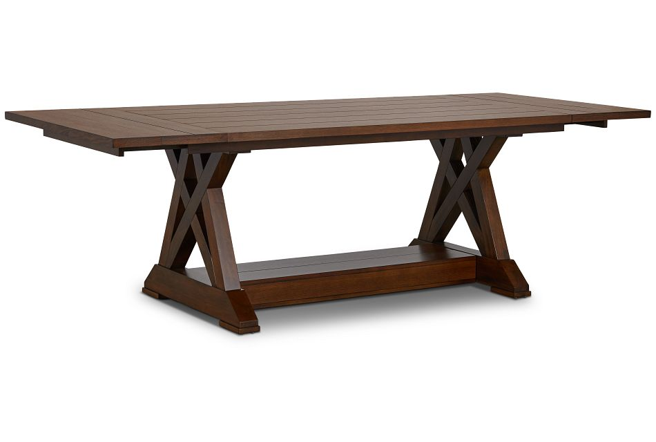 Bloomington Dark Tone Rect Trestle Table,  (2)