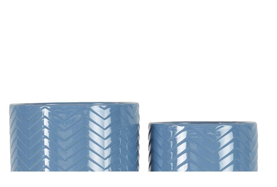 Poe Blue Set Of 2 Planter