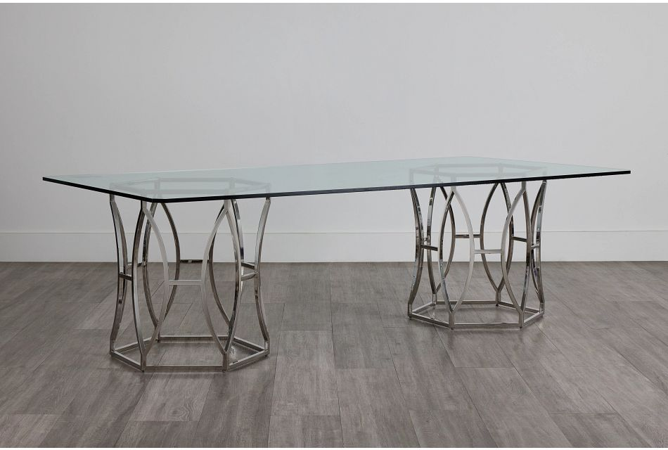 Argent Glass Rectangular Table,  (0)