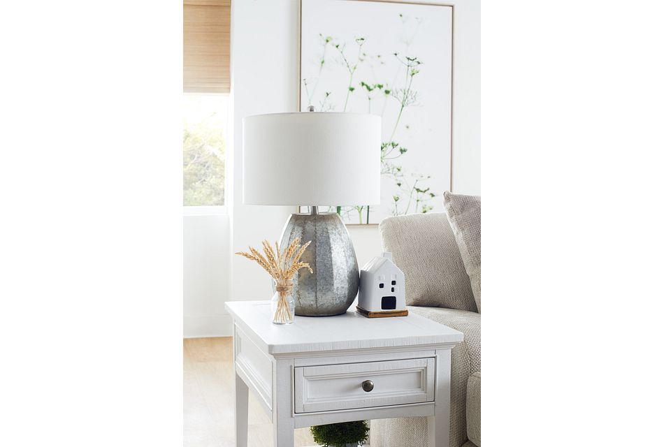 Heron Cove White Rectangular End Table