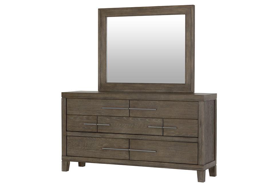 Bravo Dark Tone Dresser & Mirror