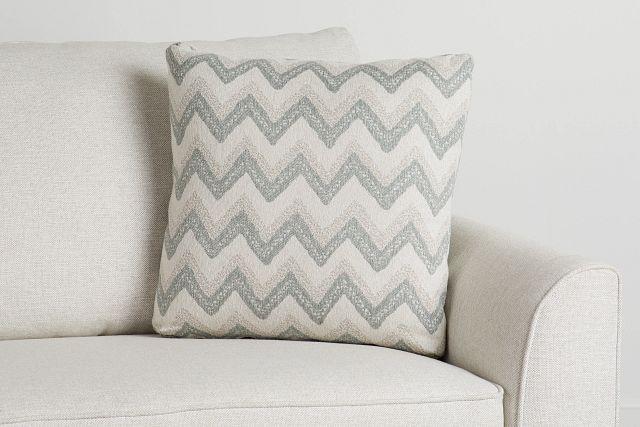 "Canari Blue Fabric 20"" Accent Pillow (0)"