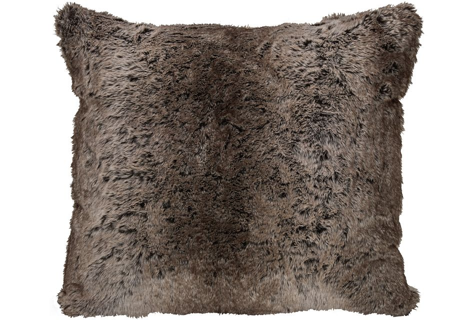 Timber2 Dark Brown Square Accent Pillow