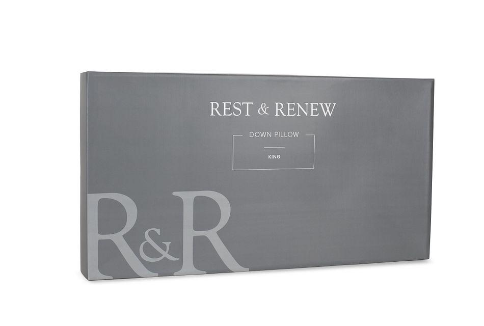 Rest & Renew Down 30% Back Sleeper Pillow