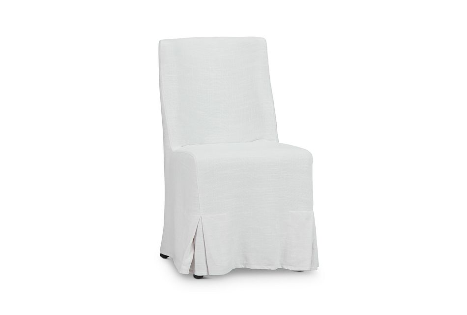 Craig White Skirted Side Chair