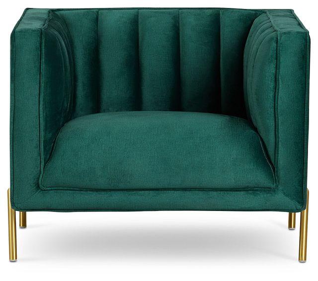 Bella Dark Green Velvet Chair (3)