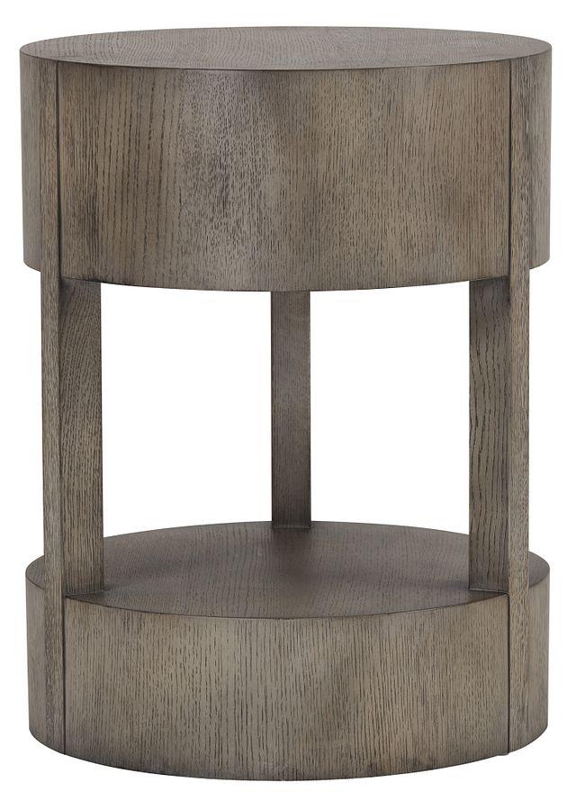 Calder Light Tone Round End Table (0)