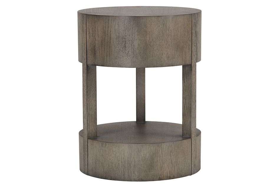 Calder Light Tone Round End Table